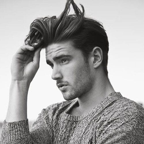 messy pomp hairstyles for men