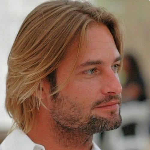 casual straightened medium length hairstyles for men