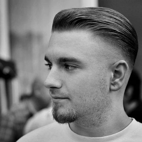 flat pomp fade hairstyles for men