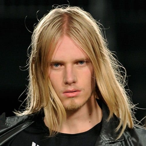 blond straight long hairstyles for men
