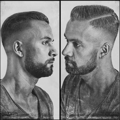 pomp descending fade hairstyles for men