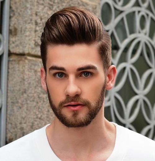 raised pomp hairstyles for men