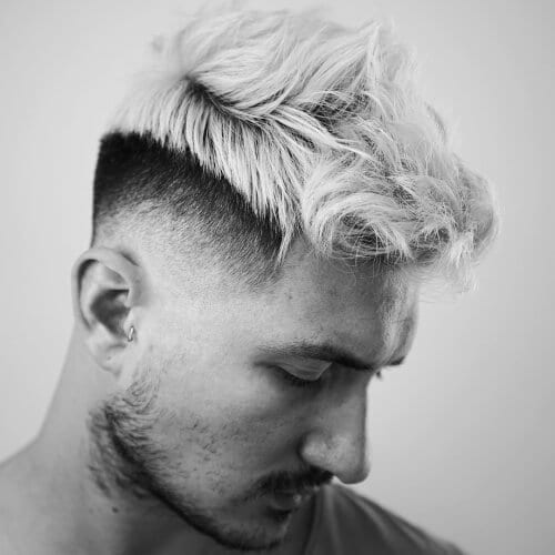 Bleached Pomp Hairstyles for Men
