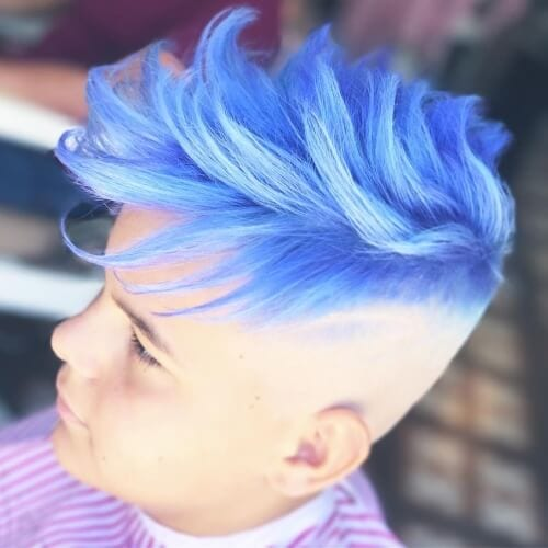 Colored Fade Hairstyles for Men