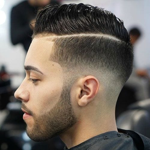 Faux Hawk Haircuts for Men with Hard Part