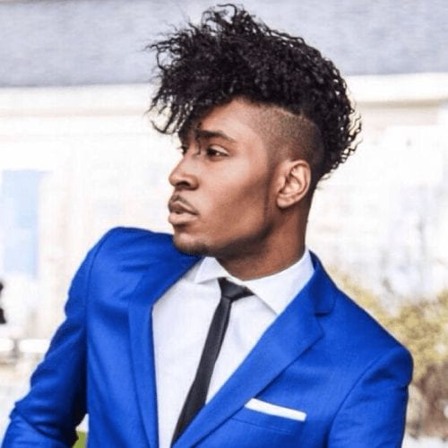 Pomp Hairstyle for Black Men