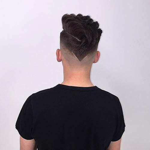 Short Sides Long Top Hairstyles with V-shaped Back