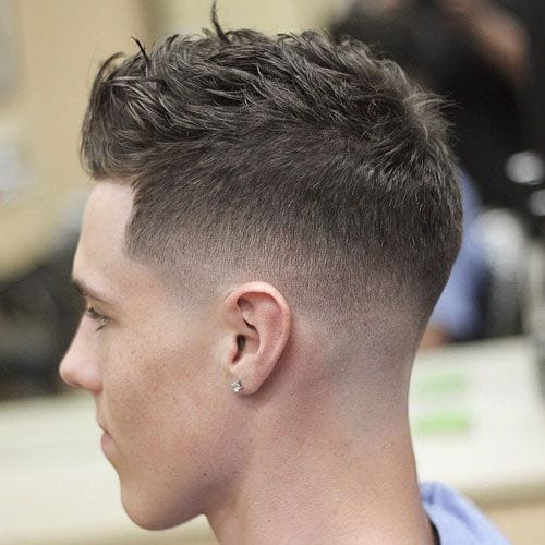 Temple Fade Short Sides Long Top Hairstyles