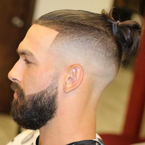 Top Knot Hairstyles - Man Bun + 360 fade