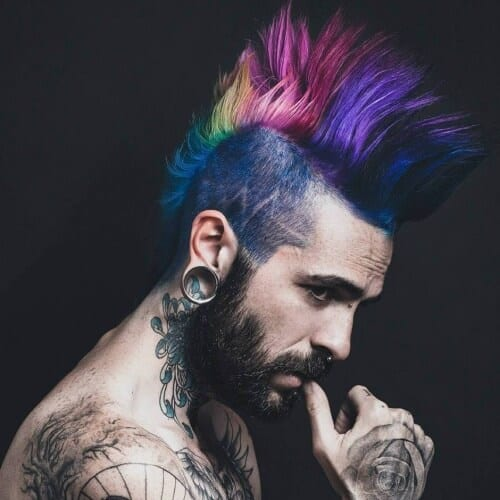 Multicolor Mohawk Hairstyles for Men