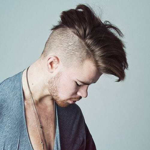 Side Swept Mohawk Hairstyles for Men