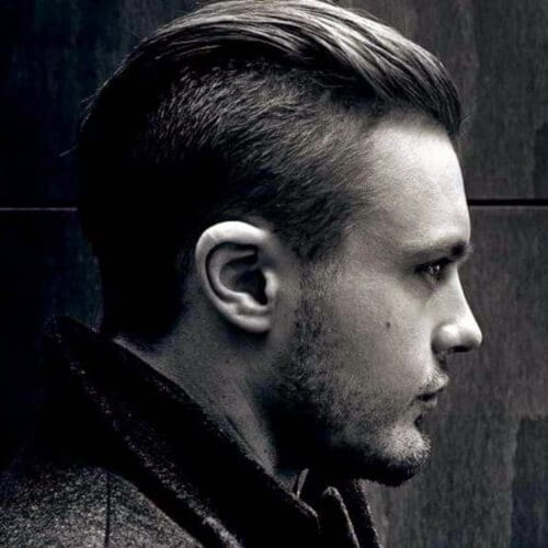 Slicked Back Modern Hairstyle for Men