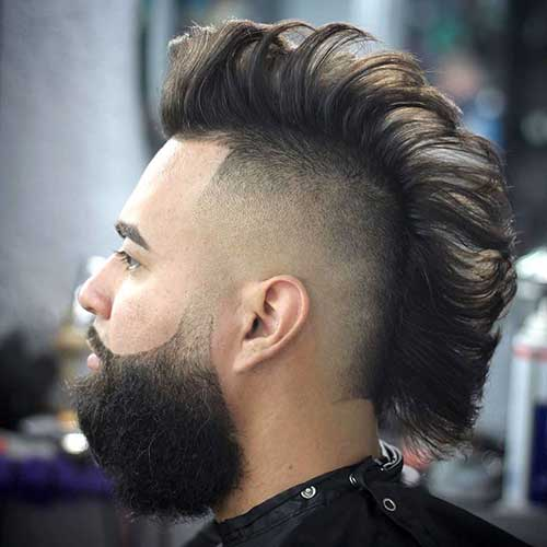 Trimmed and Shaped Mohawk and Beard