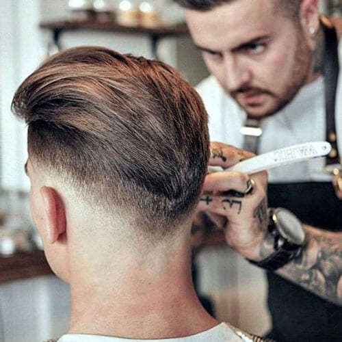 V-shaped Faded Modern Hairstyles for Men