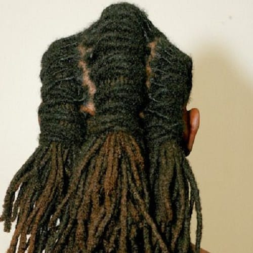 3 Part Dreads Hairstyle