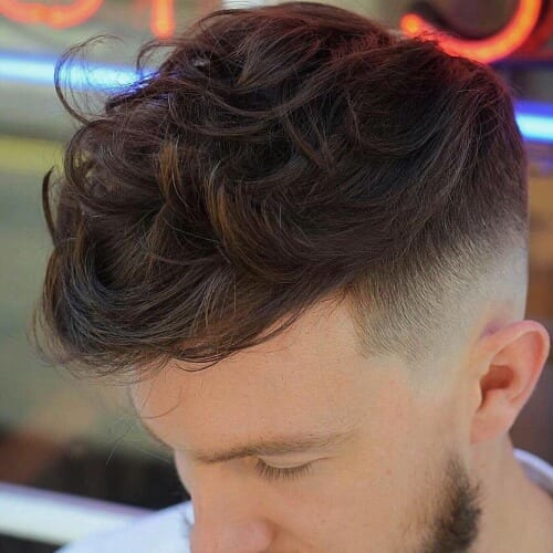 High Fade Long Hairstyles for Men with Wavy Hair