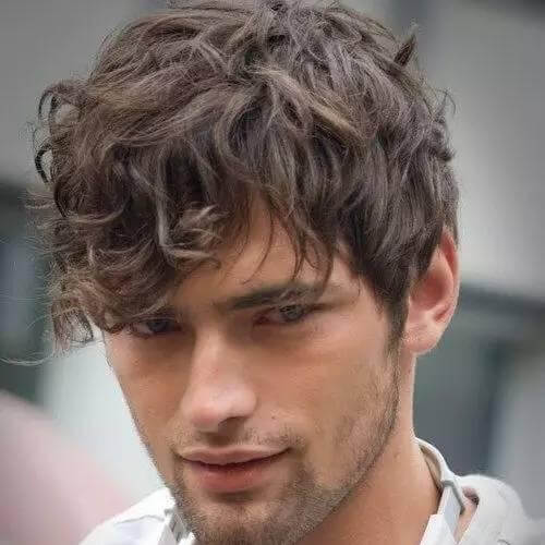 Long Bangs Men Hairstyles for Wavy Hair