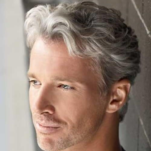 Mature Hairstyle for Men with Wavy Hair