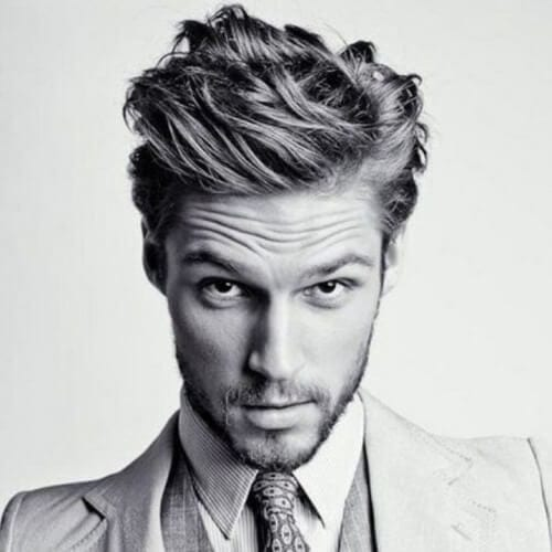 Office-friendly Hairstyle for Men with Wavy Hair