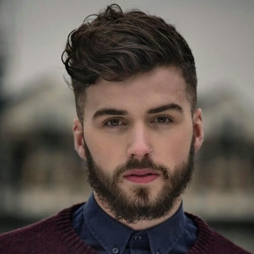 Quiff Hairstyle for Men with Wavy Hair