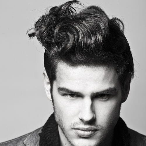 Retro Hairstyle for Wavy Hair Men