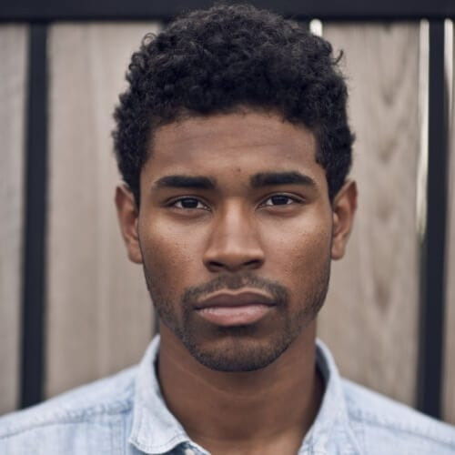 Short Curly Hairstyles for Black Men