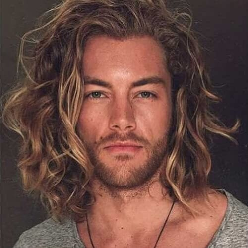 Shoulder Length Mens Hairstyles for Thick Wavy Hair