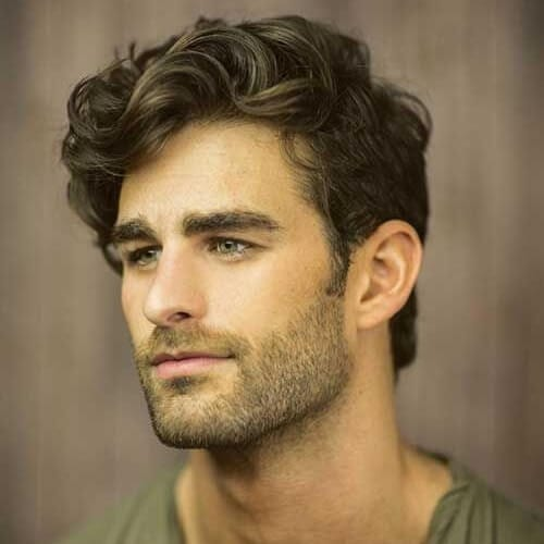 Side Part Hairstyles for Thick Wavy Hair Men
