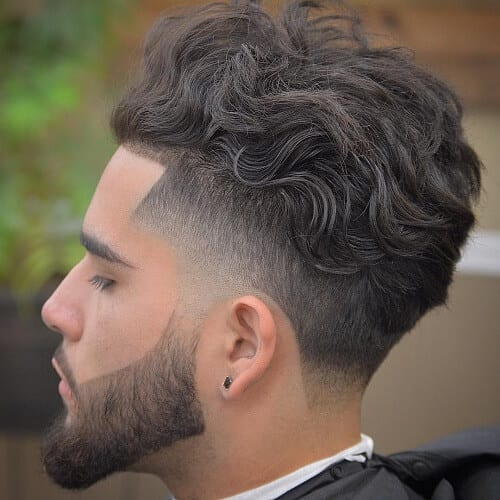 Temple Fade Wavy Hairstyles