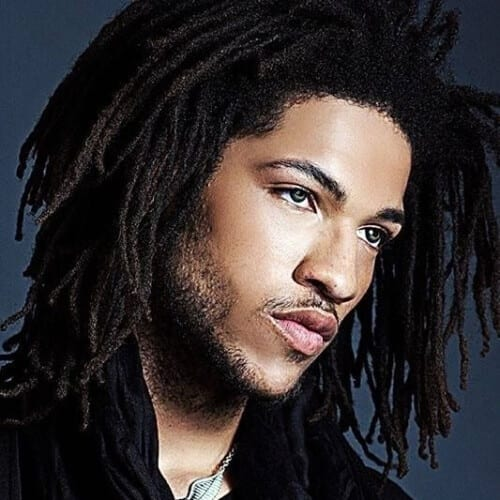 Thin Dreadlocks Style for Men