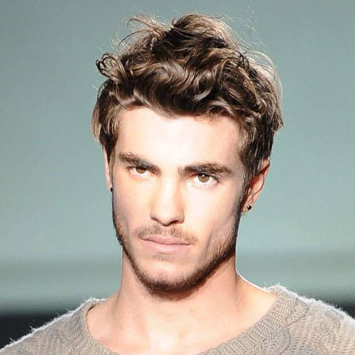Tousled Thick Wavy Hairstyles for Men