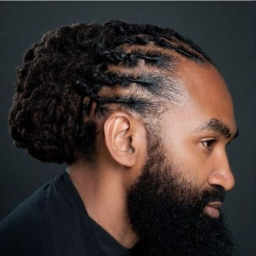 Twisted Back Braided Dreadlocks Styles for Men