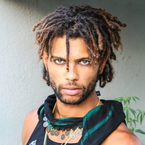 Two Tone Short Dreadlocks Styles for Men