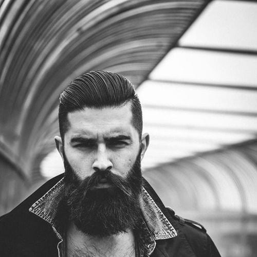 Greaser Biker Comb Over Hairstyle For Men