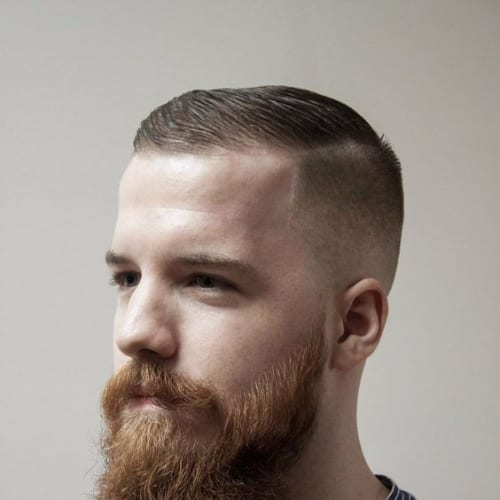 Slick and Scruffy Hairstyle - Short Blonde Hairstyle + Long Beard