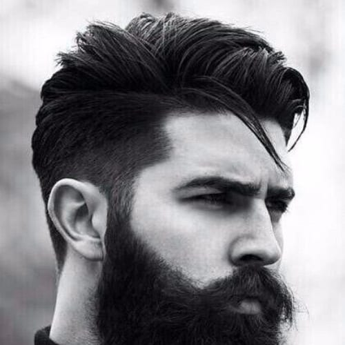 Undercut + Textured Top + Long Beard