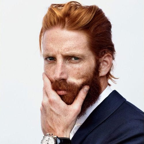 Long Length Comb Over - Ginger Haired Man