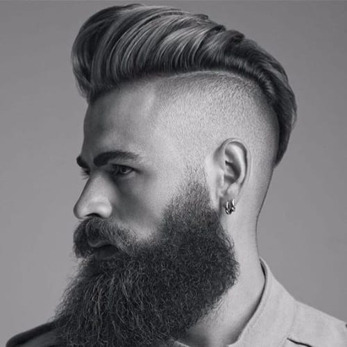 Burst Fade High Pomp Hairstyle