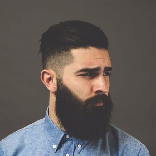 Shaved High Fade with Comb Over Hairstyle