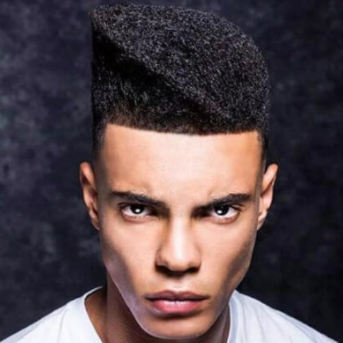 Artistic Asymmetric Flat Top Haircut For Black Men