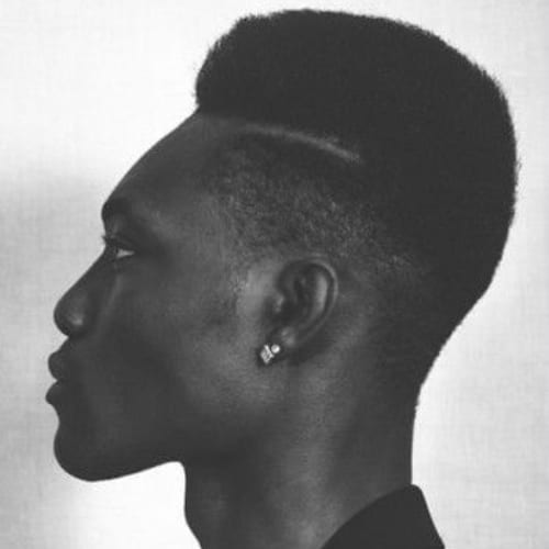 Hard Parting Flat Top Haircut