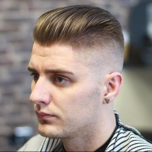 50 Exceptional Flat Top Haircuts for Men - High Fade Pompadour
