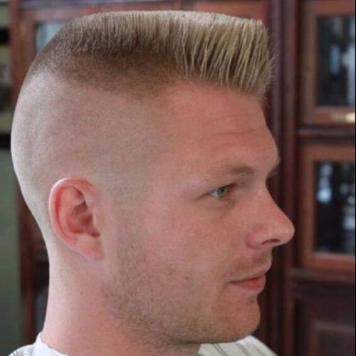 High Flat Top with Angled Front + 360 Undercut + Military Haircut