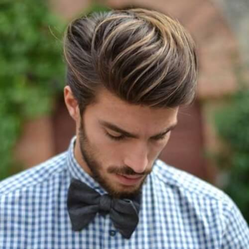 Large Pompadour with Subtle Highlights