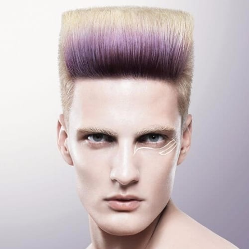 Precision Flat Top - white boy fade