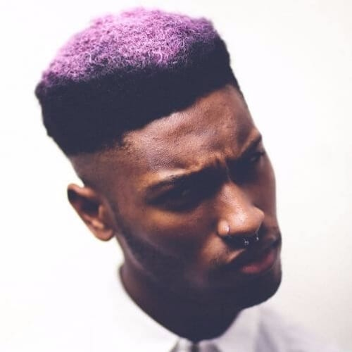 Sharp Line with Purple Flat Top Peaks