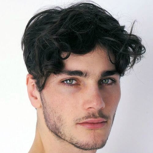 Messy Side Sweep Hairstyle. Hairstyles For Men With Thin Hair