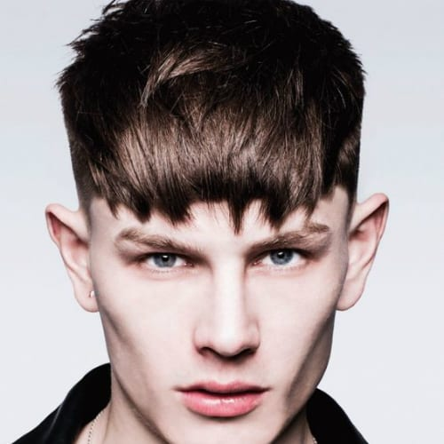 Hairstyles For Men With Shaved Sides And Bangs