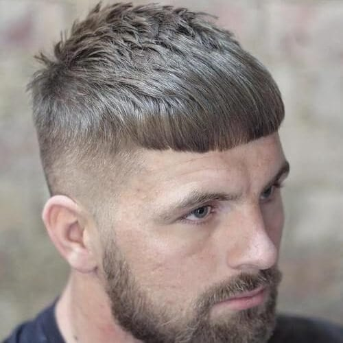 Caesar Haircut with Thick Beard