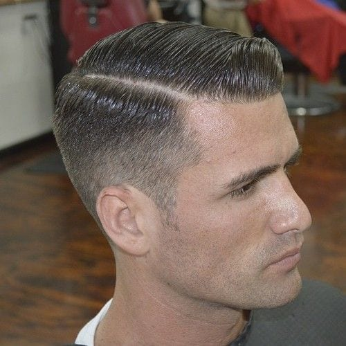 Classic Hard Part Haircut